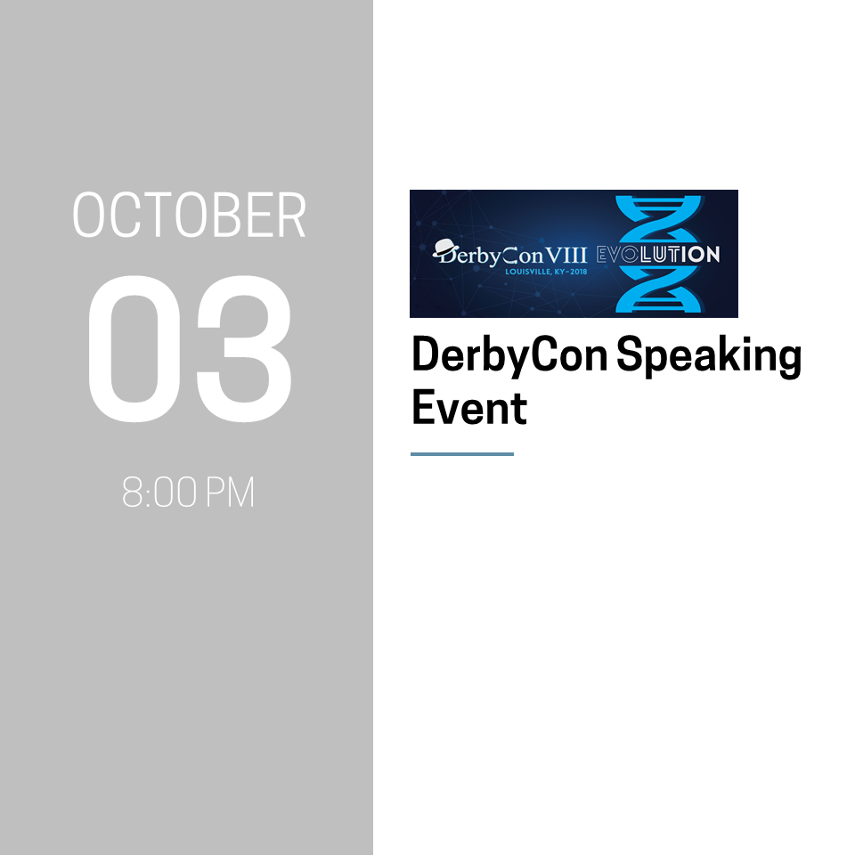 DerbyCon Speaking Event