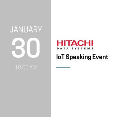 Hitachi IoT Speaking Event